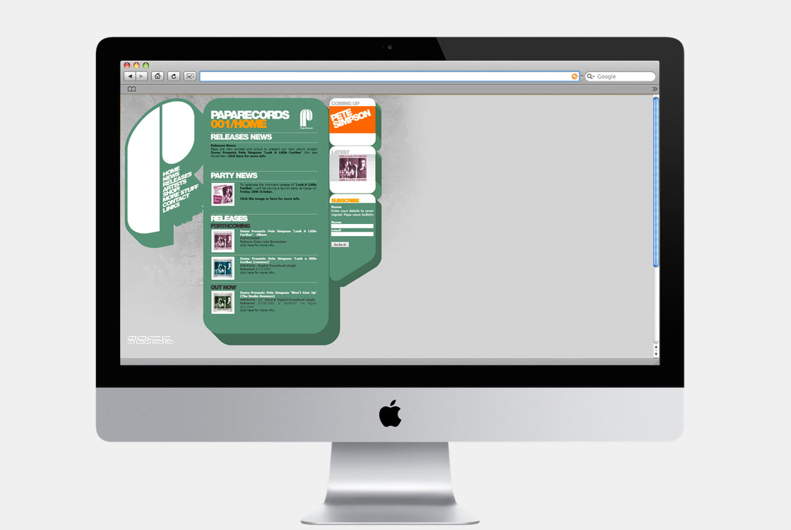 HOMEPAGE LAYOUT Website home page